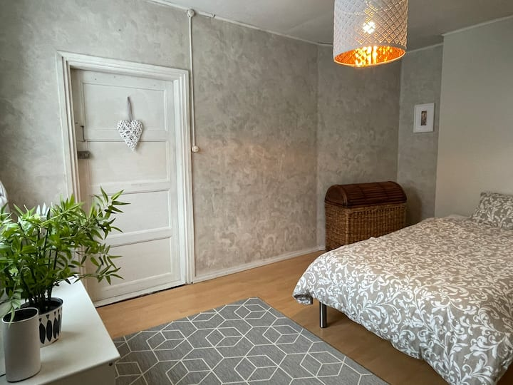 Private bedroom with small hall