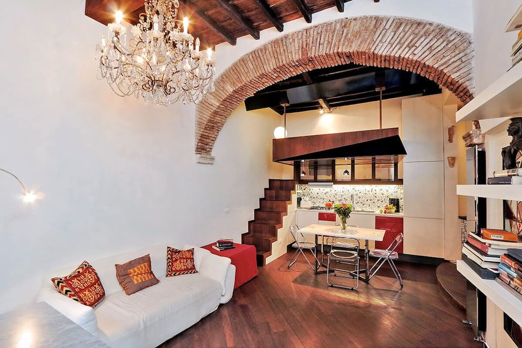 One bedroom holiday apartment near Piazza Campo de Fiori - Living room
