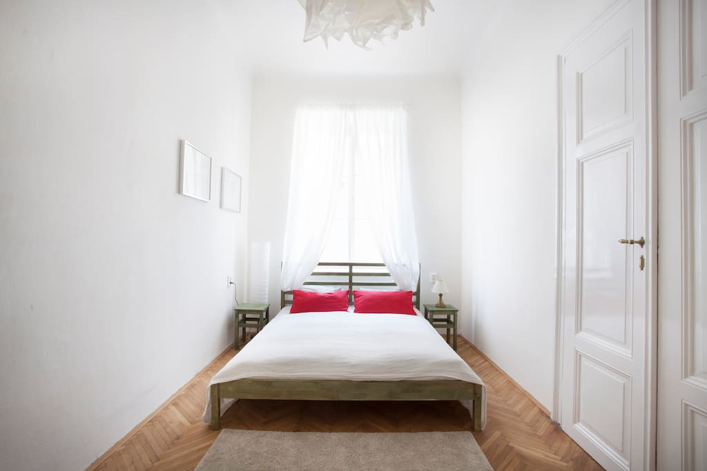Light bedroom with full privacy.