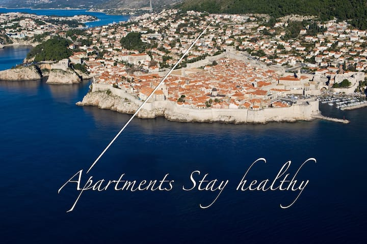 Stay Healthy Apartments - Studio Apartment with Patio and Sea View (Gornji)