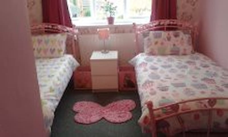 Butterfly room with twin beds - Pitsea, Basildon - Bed & Breakfast