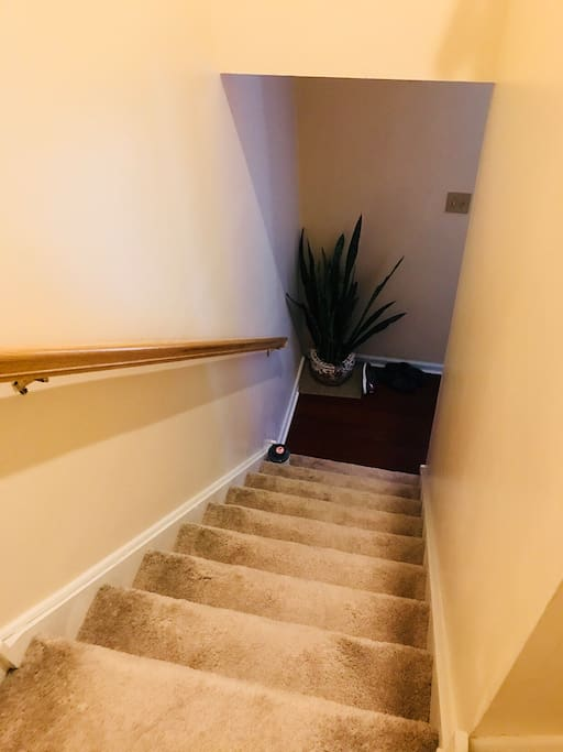There are some steps to go in your bedroom on second floor