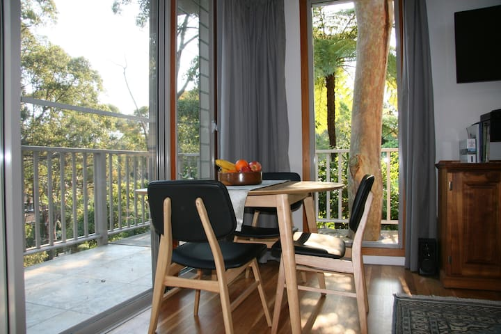 The breakfast nook which can also serve as a workspace