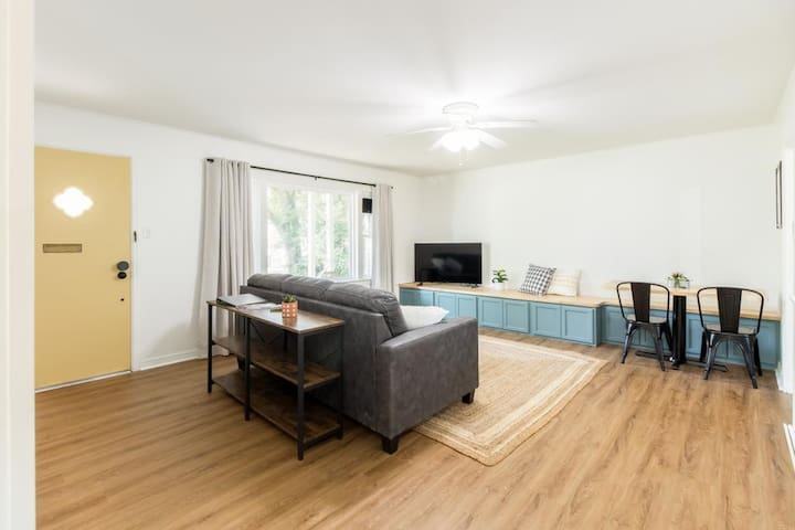 Enjoy some Netflix while relaxing on the couch in our spacious living room.