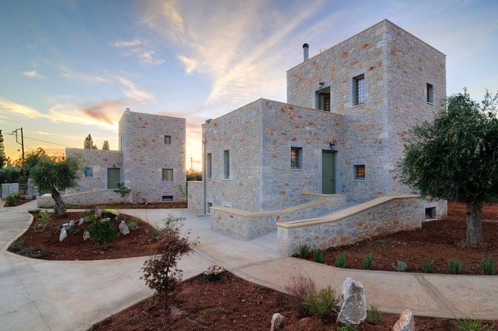 Villa Eftichia in an olive garden