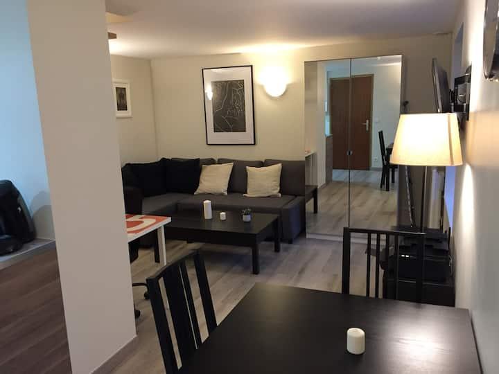 1 bedroom, duplex. 32 m2.  Garden. 1.6 km HEC