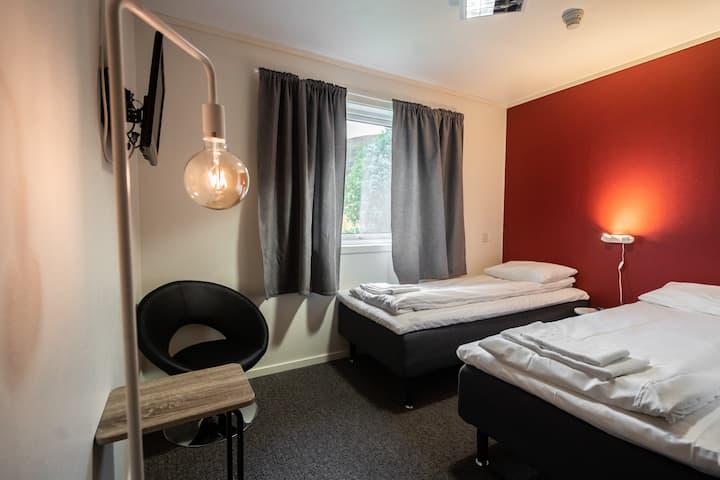 Mini hotellrom på vestkysten av Senja