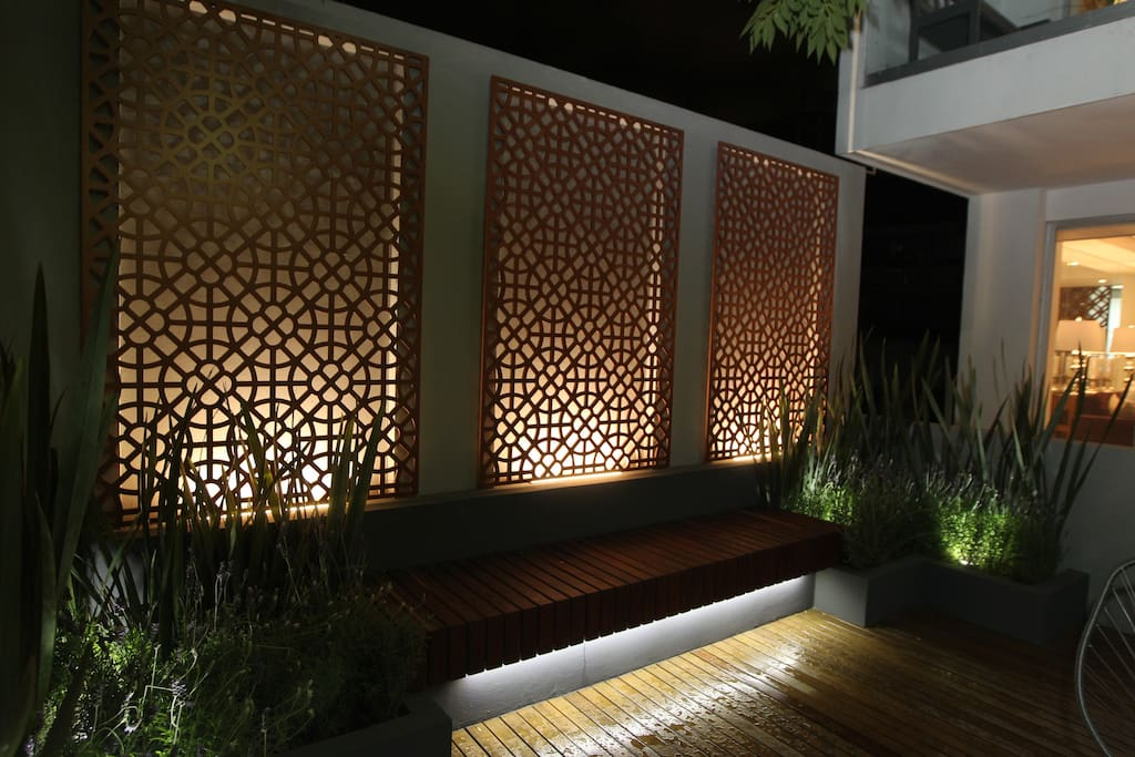 Wooden lighted panels