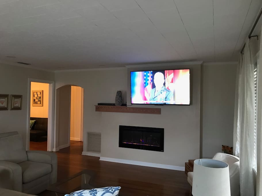 Electric Fireplace/55 Inch HD