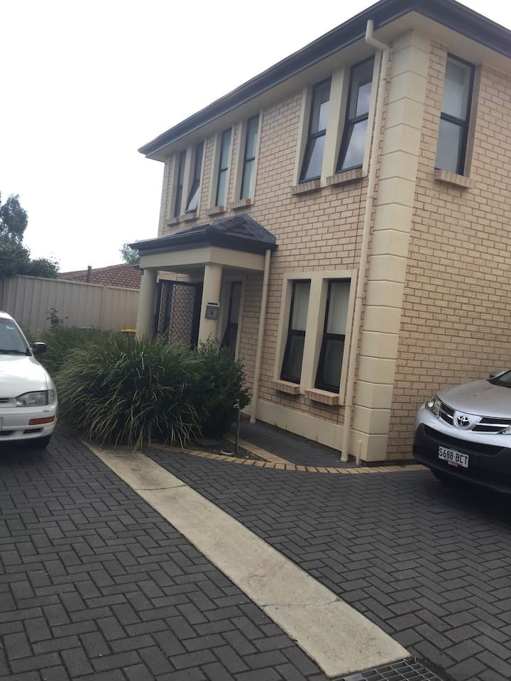 Two car parking areas available, new built townhouse