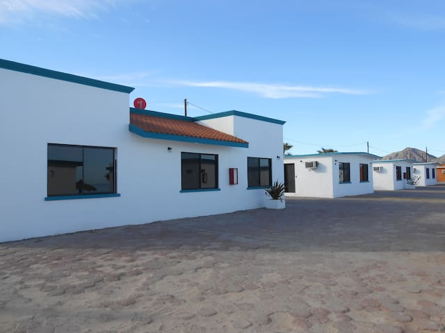 exterior view suite #55 next to Victors Campground in Sea of Cortez