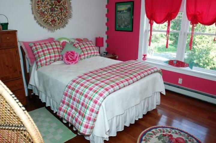 Watermelon Tourmaline Bedroom-Bold Colorful Life