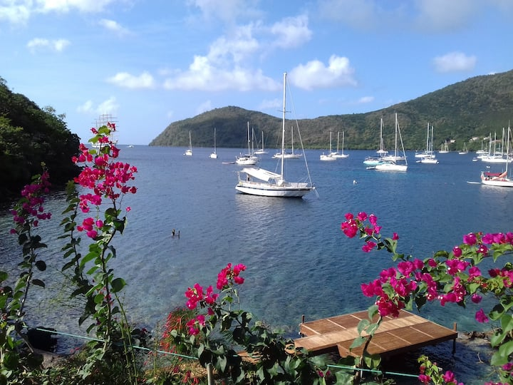 Waterside apartment, great view,  Anse d'Arlet