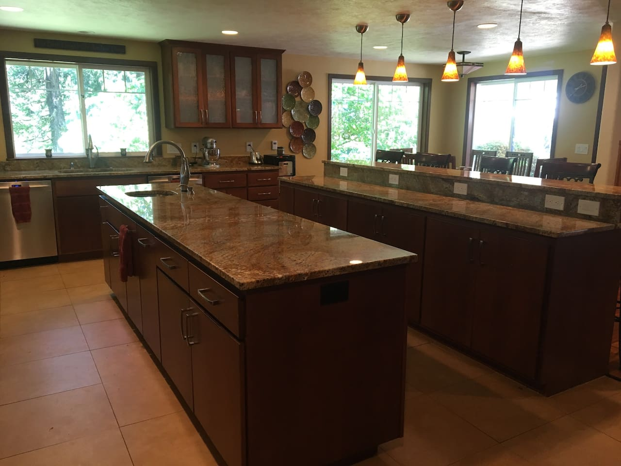 Amazing granite counters throughout the whole kitchen