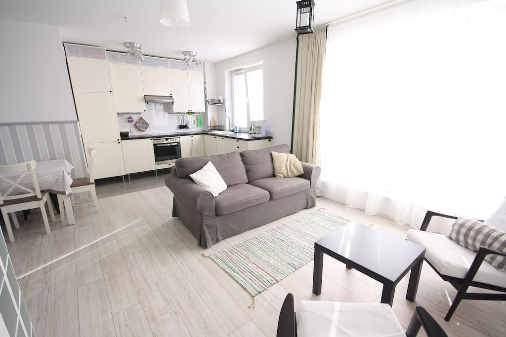 Bright and sunny living room.