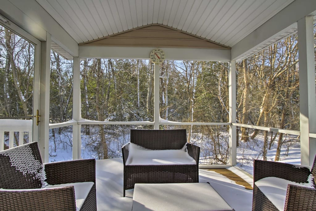Enjoy the private, shaded outdoor patio when the weather's just right!