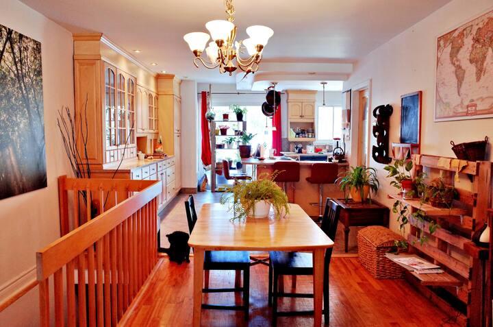 Appartement luxueux et chaleureux