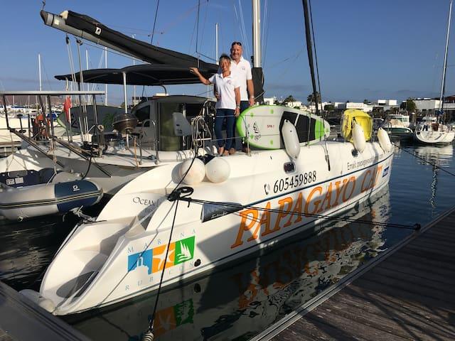 Catamaran Marina Rubicon, 2 private cabins bathrom