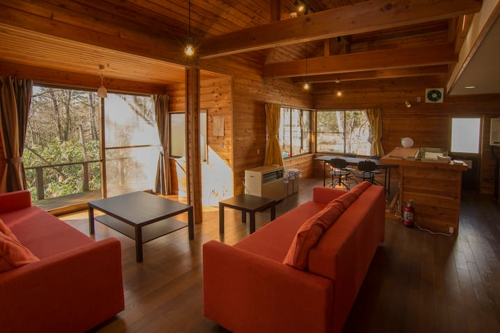 Large Lodge with Real Onsen!/for Ski and Mt./10ppl