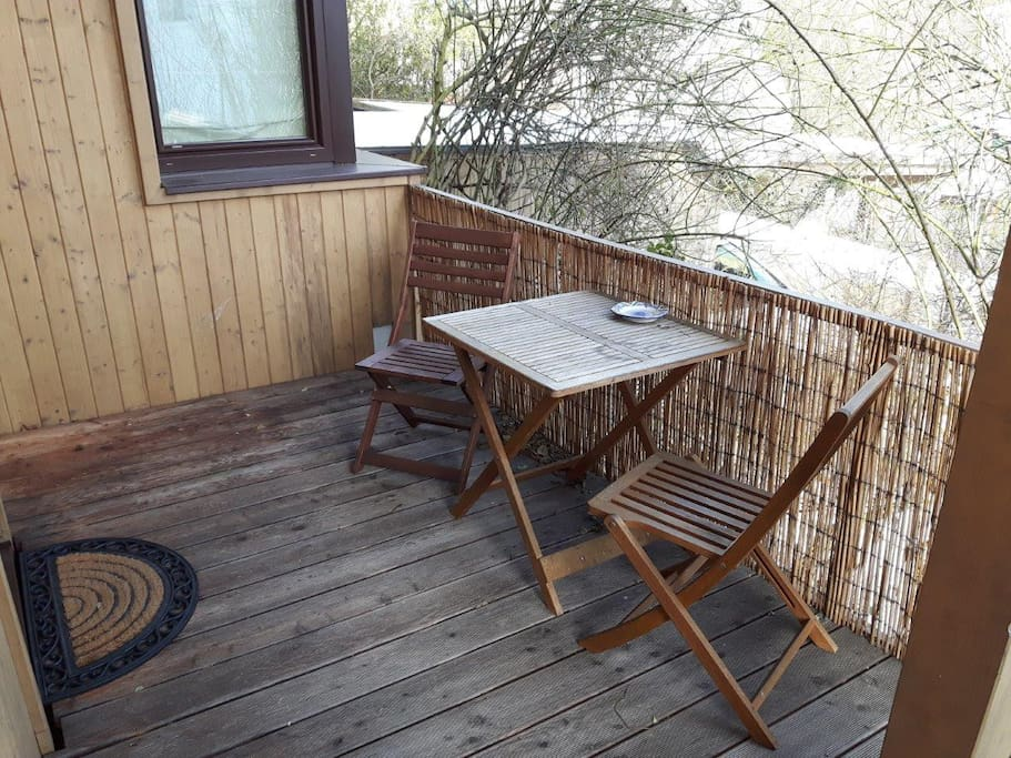 Terrace with table and chair