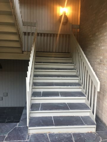 Stairway to unit