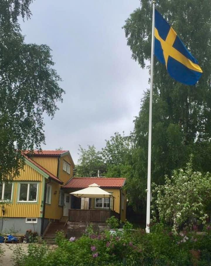 Villa with garden and terrace near archipelago