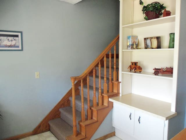 Staircase leading to bedrooms