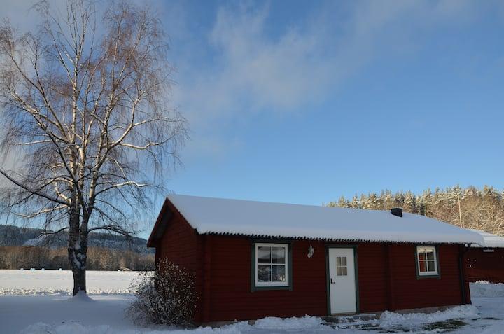 Timmerstuga nära Borlänge, Falun och Leksand