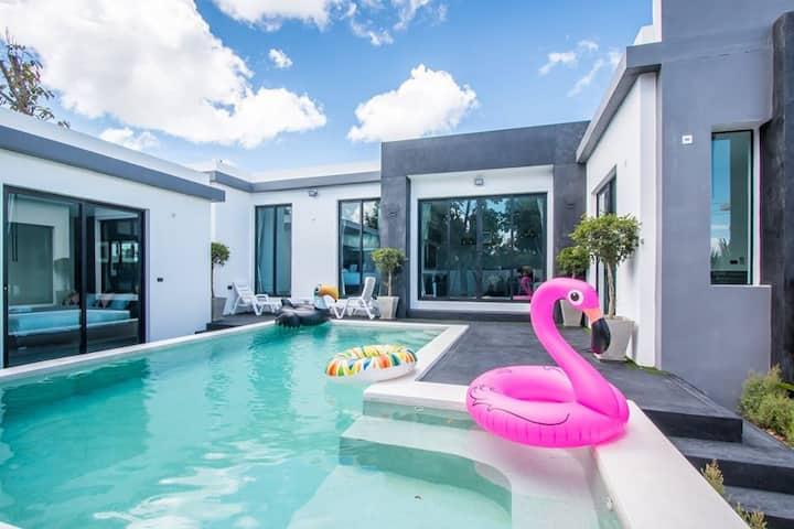 Luxury Grey Pool Villa