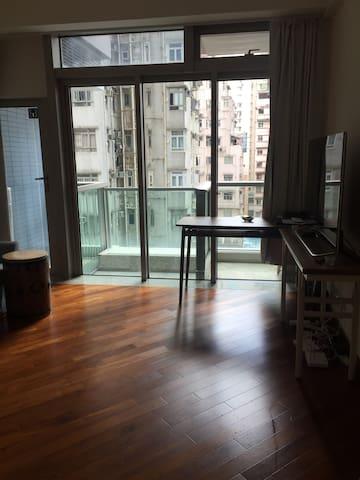 Sunny studio with balcony, centrally located