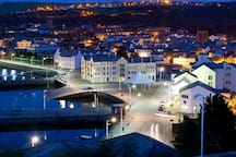 Whitehaven harbour at night