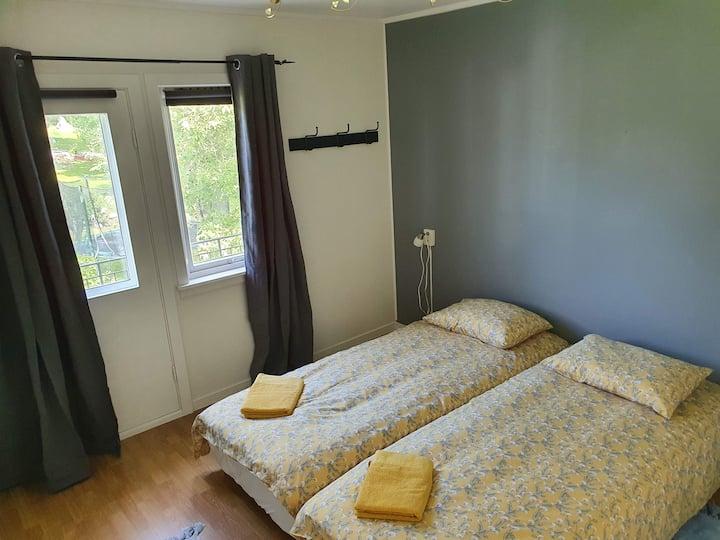 Hus sentralt i Lofoten