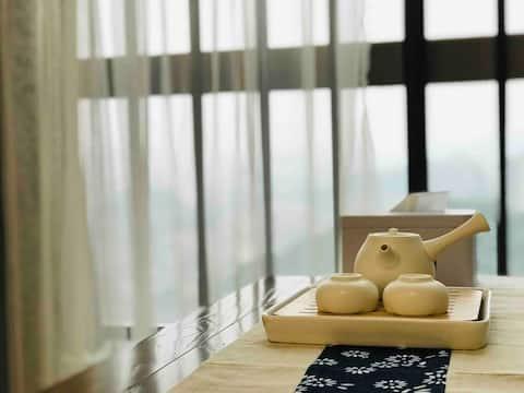 【三余室】市中心轻奢MUJI风|每客彻底消毒|近花果园购物中心|榻榻米|有空调Wi-Fi的独立公寓