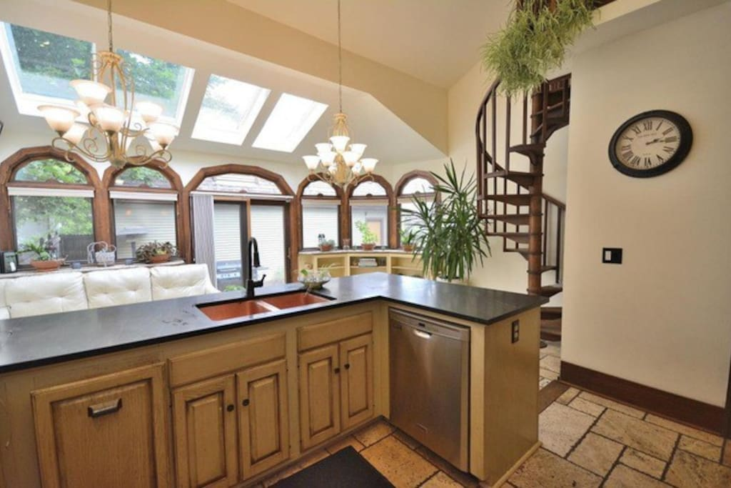 Spacious kitchen fits all your guests
