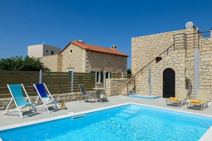 Orelia Cretan Stone Villa 45sqm-Private Pool 20sqm