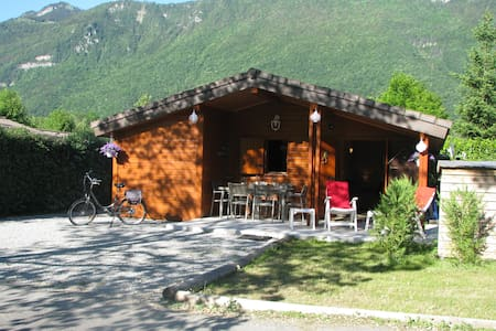 Lovely 5 bed chalet by idyllic mountainside lake.