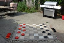 Afternoon Checkers and BBQ