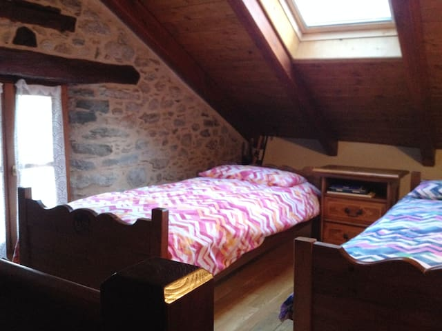 La mansarda - The attic with two beds