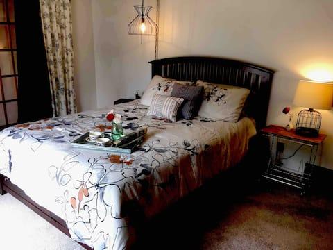 Cozy farmhouse guest room