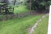 direct access to grass. Fully fenced backyard so your pet will be safe!