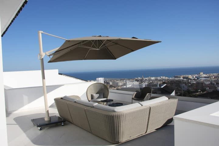 Penthouse med udsigt 180 grader