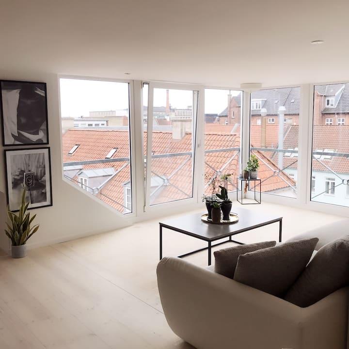 Charmerende penthouselejlighed i Odense centrum
