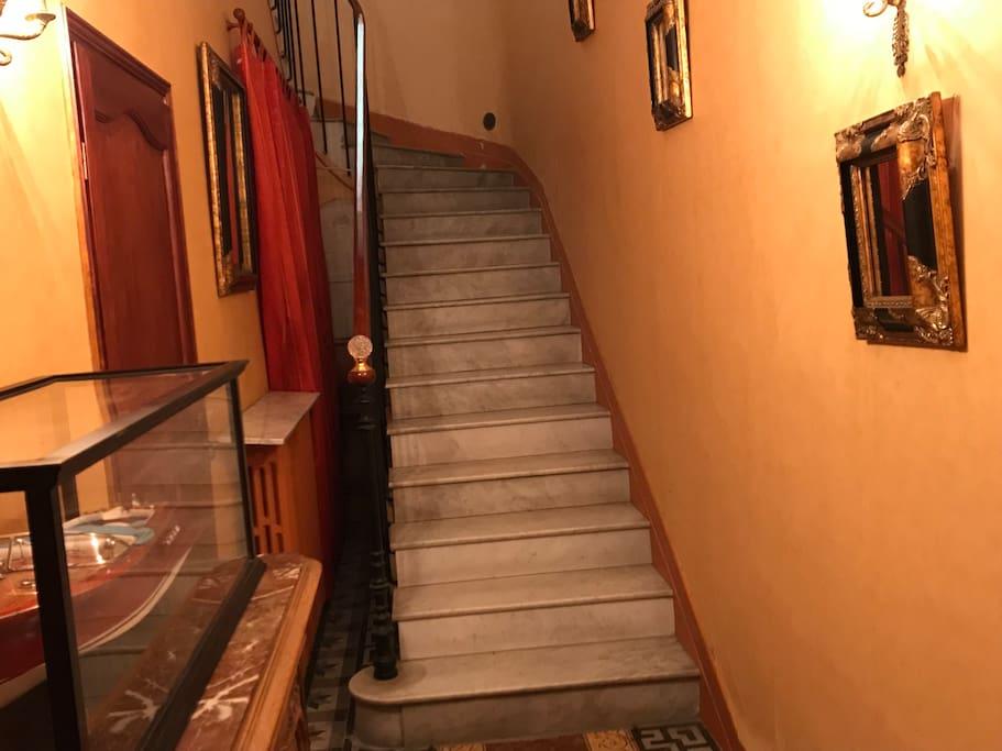 Escaliers marbre de carrare