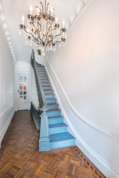 Entry: your private entrance is on the parlor level, and you'll head up the stairs to your unit on the top two floors