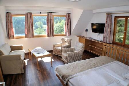 Schlehdorns Seehof, (Lenzkirch), Doppelzimmer mit WC und Dusche - Seeblick