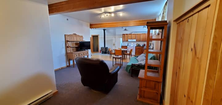 1100 sq ft., private, bright, cozy 2 bedroom suite