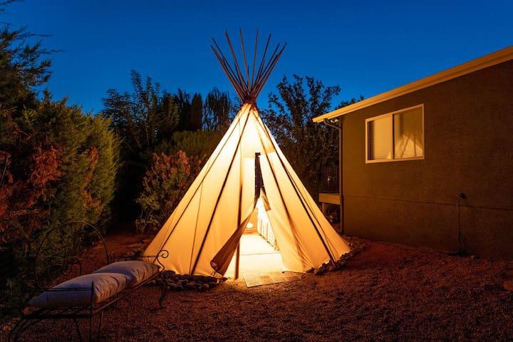 Sedona, A True AZ Experience!  Tee Pee, Open Spaces, Revitalize, Hike & Breathe!