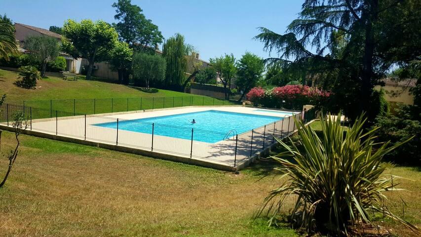 Appartement dans résidence avec parc et piscine - Peymeinade - Apartamento