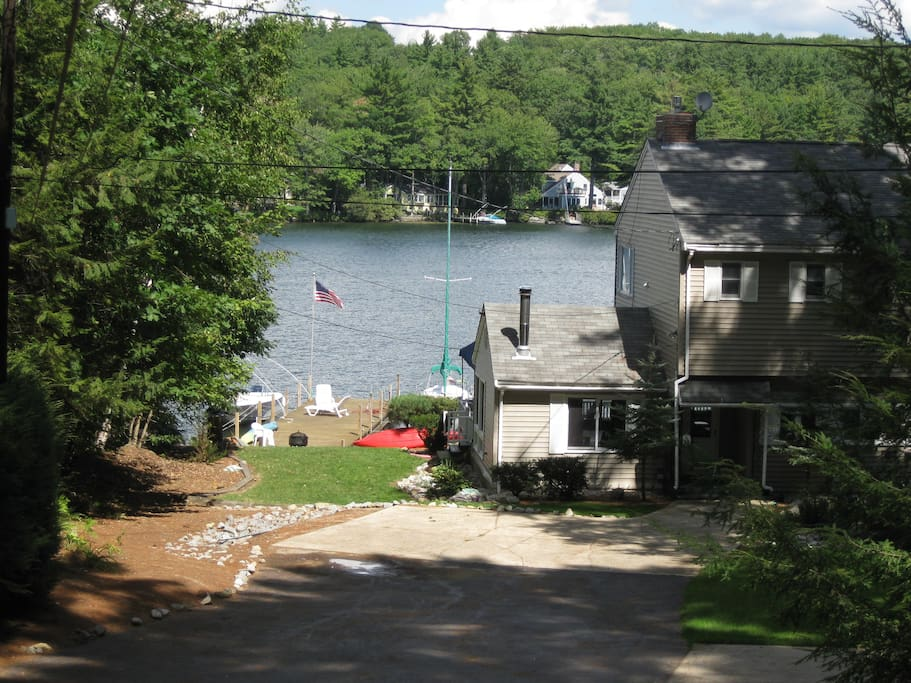 View of dock from cottages