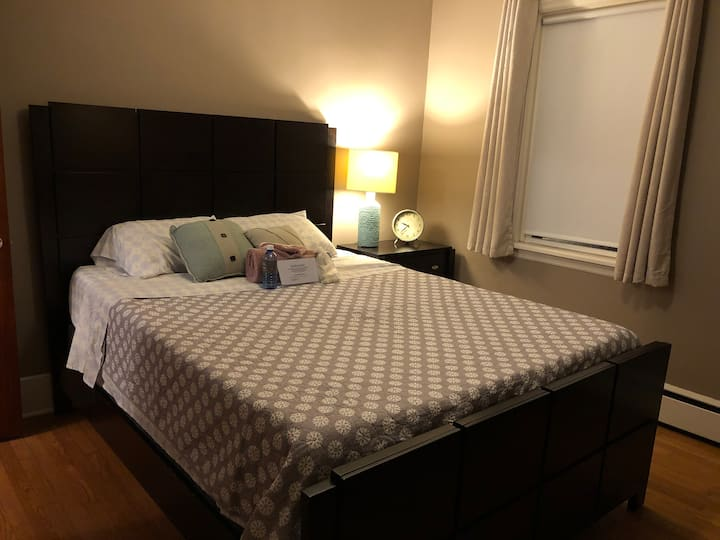 Private room with queen bed in safe area